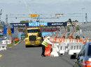 Preparations get underway on Albert Park's pit straight