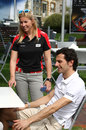 Maria de Villota and Pedro de la Rosa in the Melbourne paddock