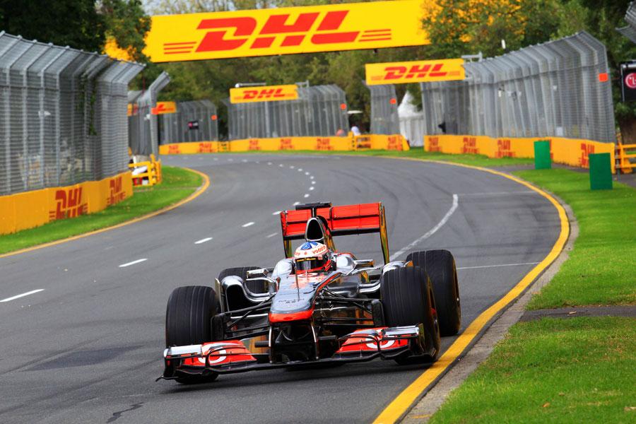 Gary Paffett demonstrates the 2011 McLaren during an Ultimate Speed Comparison around Albert Park