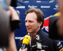 Christian Horner talks to the press