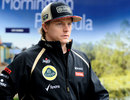 Kimi Raikkonen ahead of his first practice session as a Lotus driver