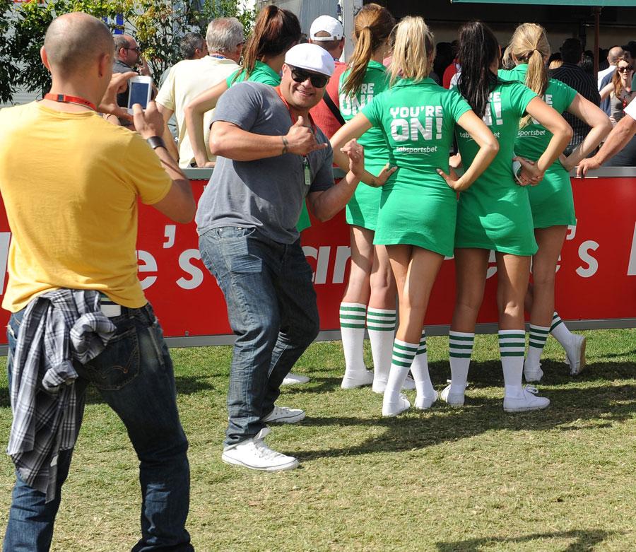 Fans enjoy the pre-race entertainment