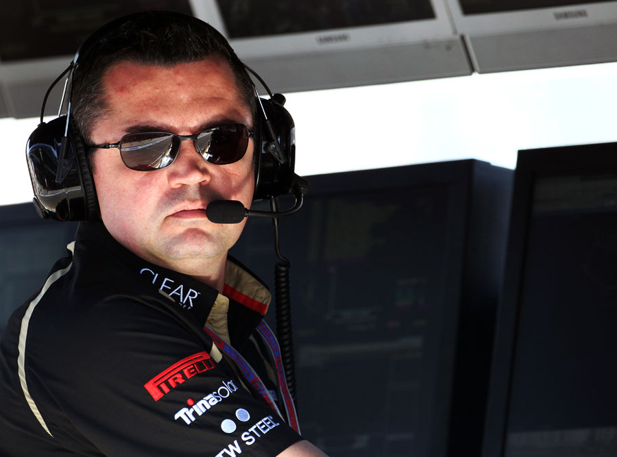 Eric Boullier on the pit wall