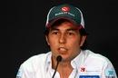 Sergio Perez in the press conference