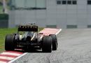 Kimi Raikkonen exits turn four