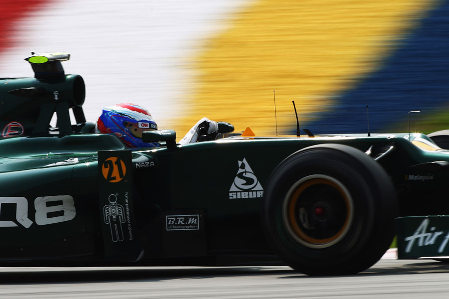 Vitaly Petrov looks for the apex