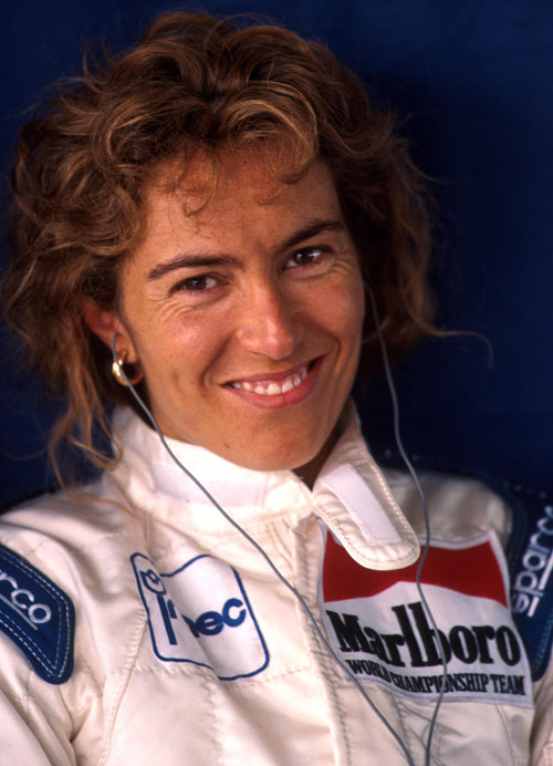 Female driver Giovanna Amati