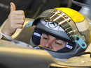 Nico Rosberg gives the thumbs up