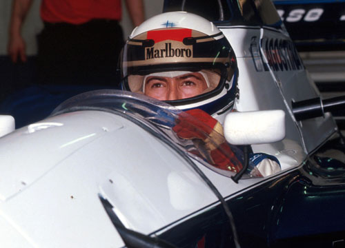 Giovanna Amati sits in her Brabham during qualifying