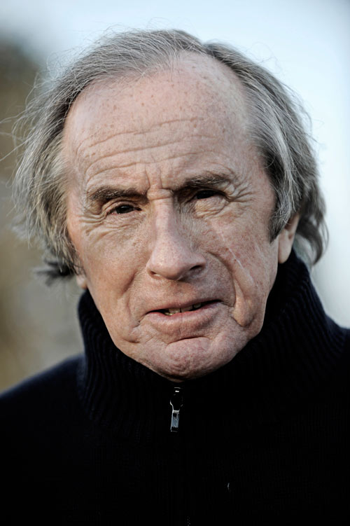 Sir Jackie Stewart poses for a portrait
