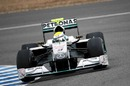 Nico Rosberg continues to test the Mercedes