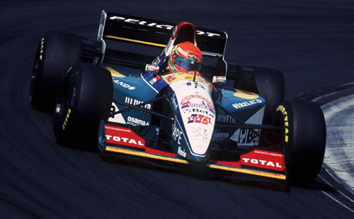 Eddie Irvine at the Hungaroring