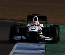 Kamui Kobayashi out on track in his Sauber