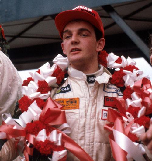 Winner Tommy Byrne on the Formula Ford Festival podium