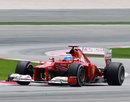 Fernando Alonso exits a chicane
