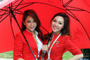 Air Asia stewardesses in the paddock