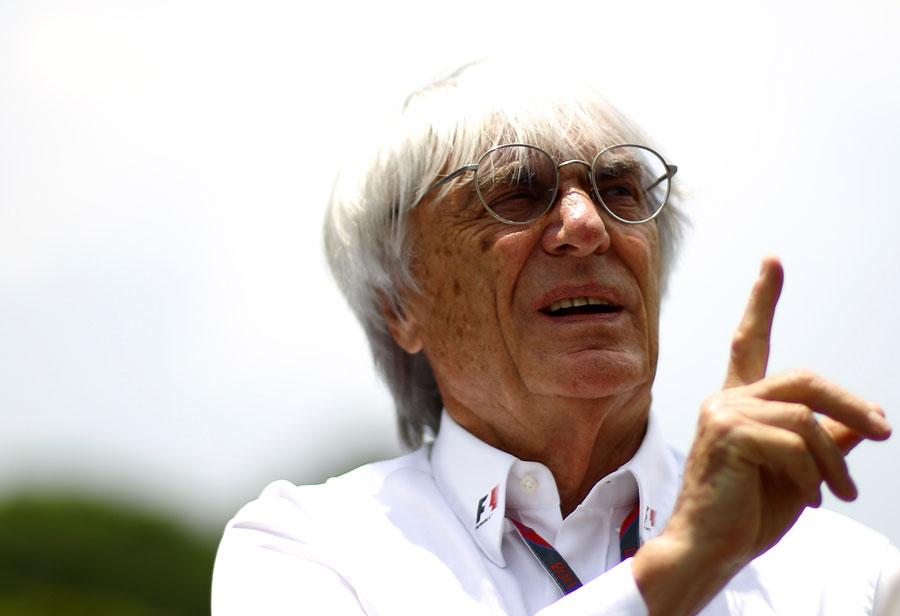 Bernie Ecclestone in the paddock