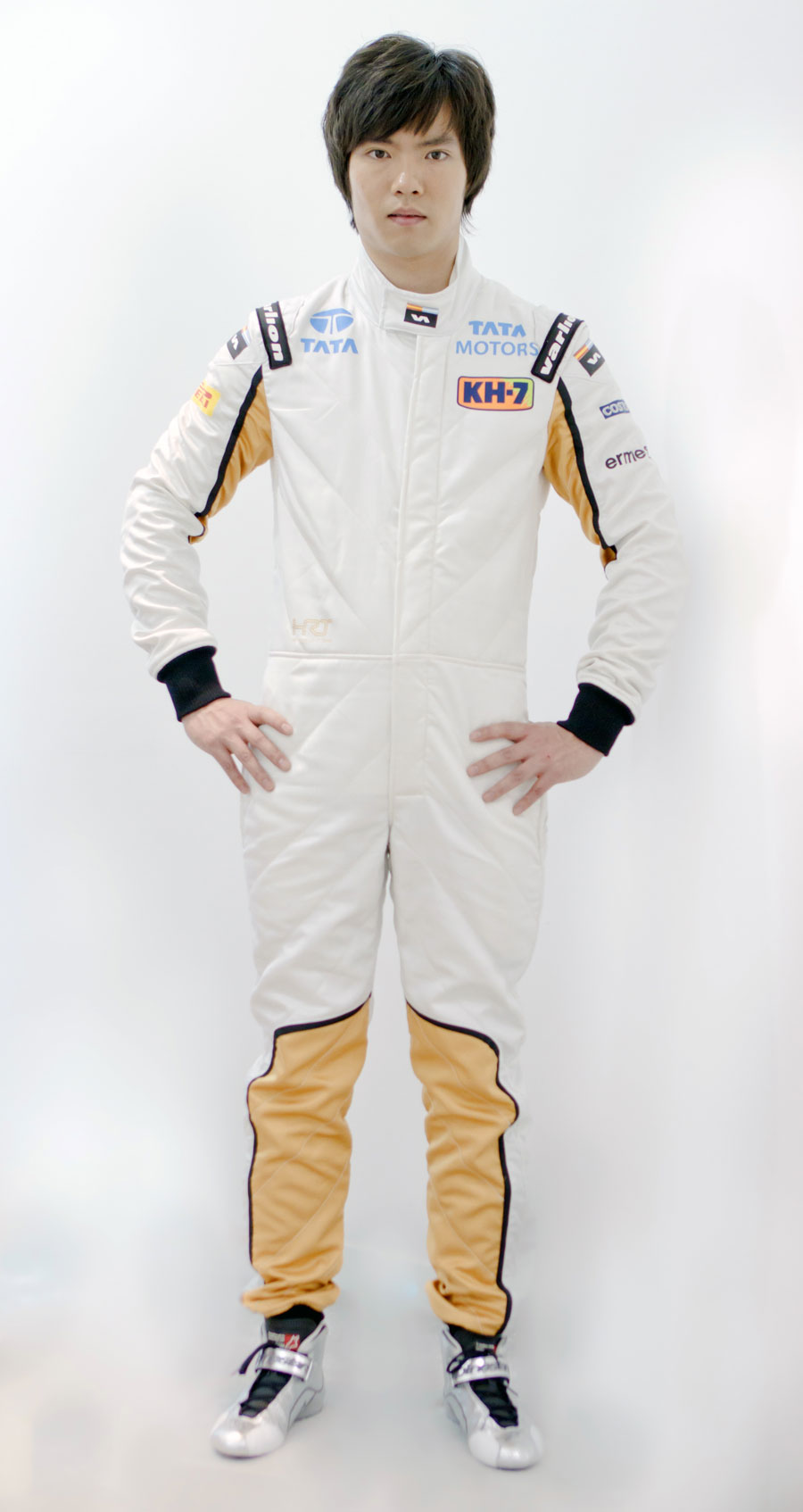 Chinese driver Ma Qing Hua in his HRT overalls