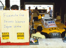 Humour at the ATS garage after the drivers went on strike ahead of the South African Grand Prix