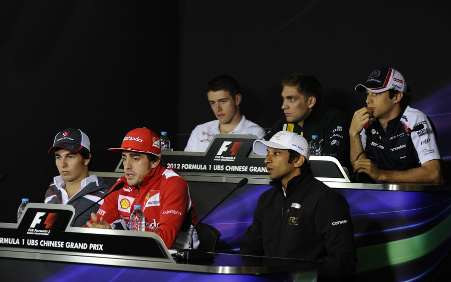 The drivers in the Thursday press conference