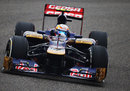 Jean-Eric Vergne struggles with understeer in his Toro Rosso