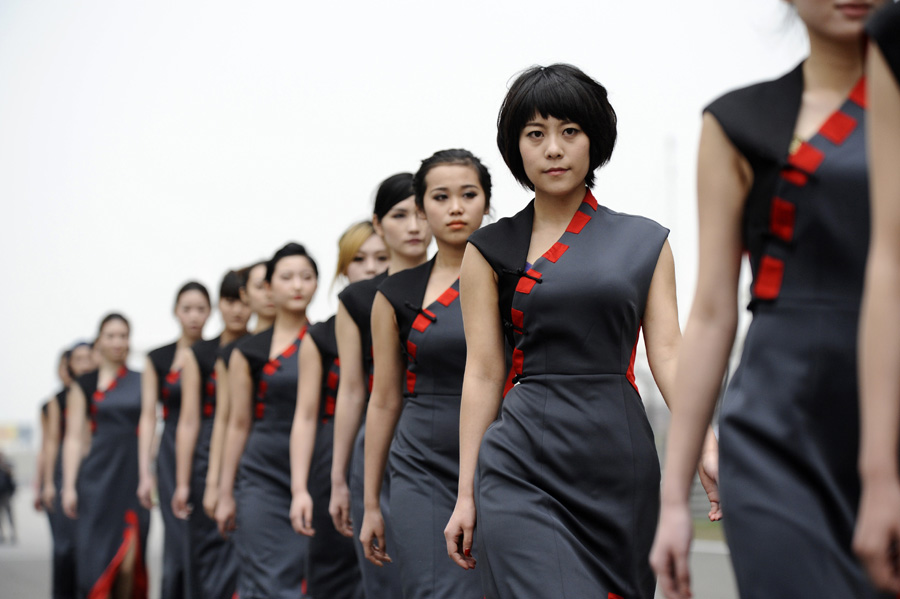 Grid girls at the Chinese Grand Prix