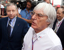 Bernie Ecclestone and Jean Todt chat in the Shanghai paddock