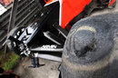 Ruined Pirelli tyres on Timo Glock's Marussia after his accident in FP2