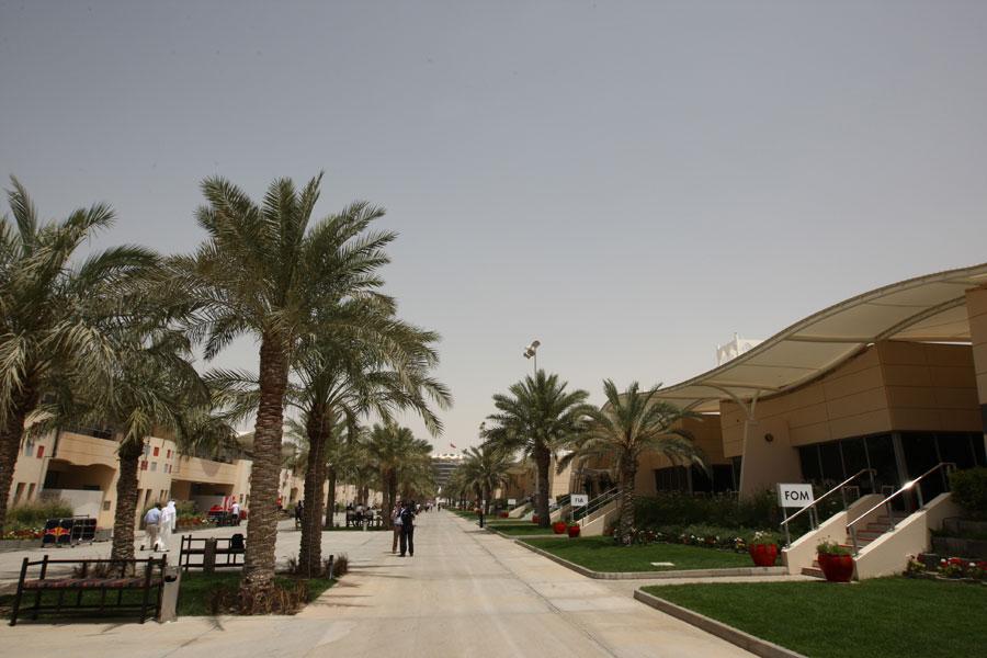 The Bahrain paddock on Thursday