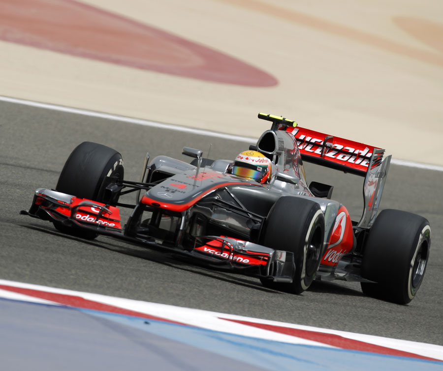 Lewis Hamilton on track in the McLaren