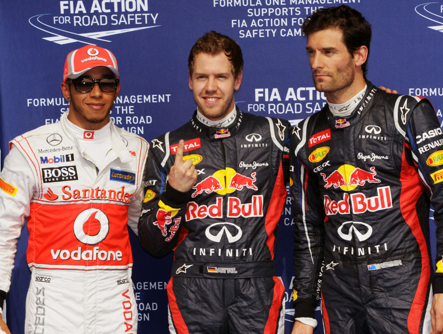 The top three at the end of qualifying