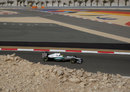 Nico Rosberg on a qualifying lap on soft tyres