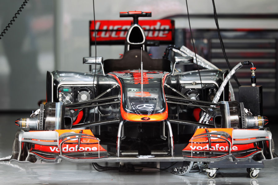 Jenson Button's McLaren ahead of the race
