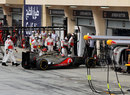 Jenson Button retires with exhaust and differential problems