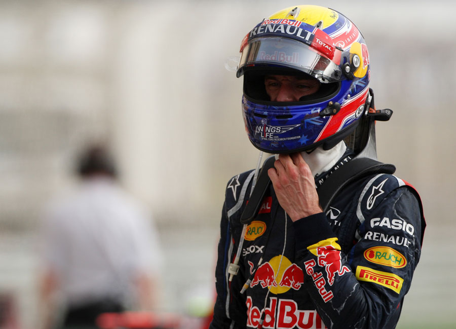 Mark Webber in parc ferme after finishing fourth