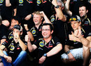 Lotus celebrates its podium finishes in the paddock