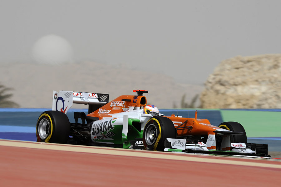 Paul di Resta in action during qualifying