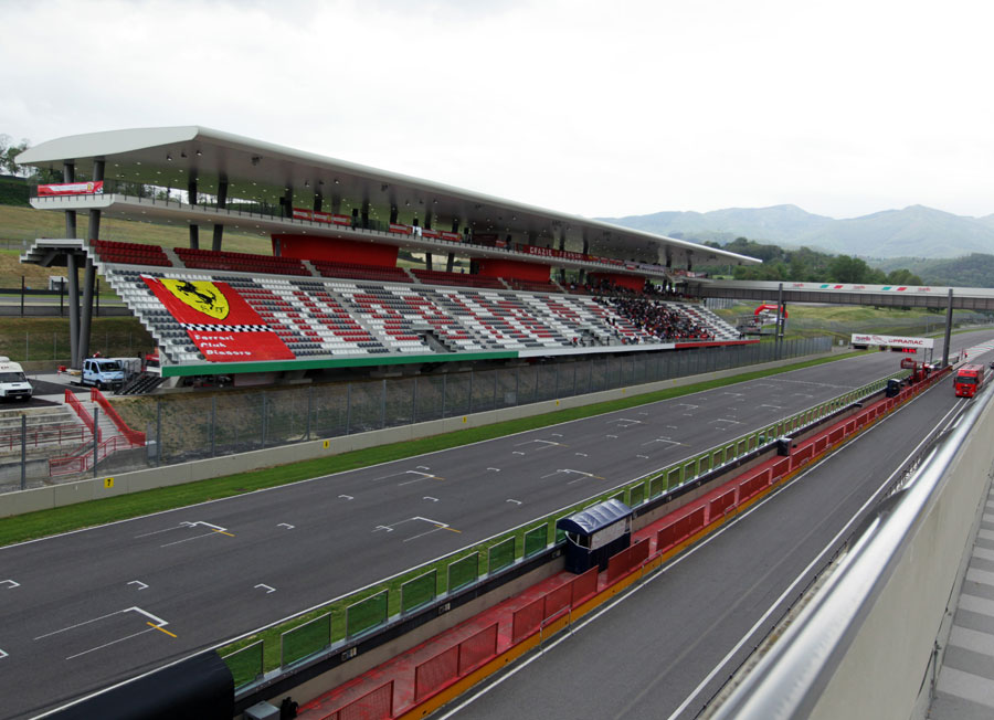 The Mugello pit straight ahead of the first day of testing