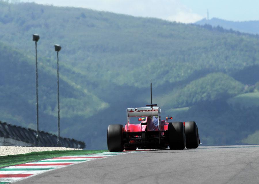 Felipe Massa on track in the Ferrari