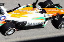 Paul di Resta's Force India running a new exhaust layout