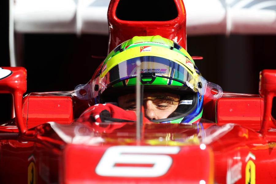 Felipe Massa in the cockpit of the Ferrari