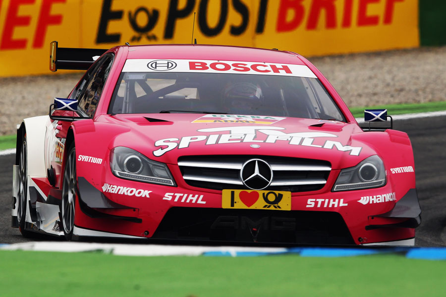 Williams development driver Susie Wolff in action in her Mercedes C-Class