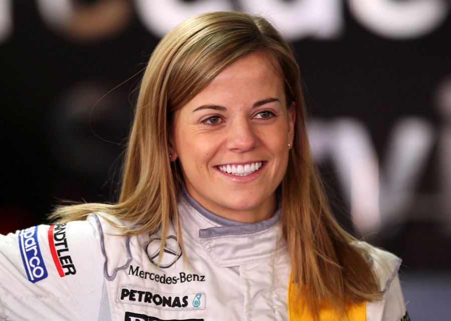 Williams development driver Susie Wolff in the DTM pits