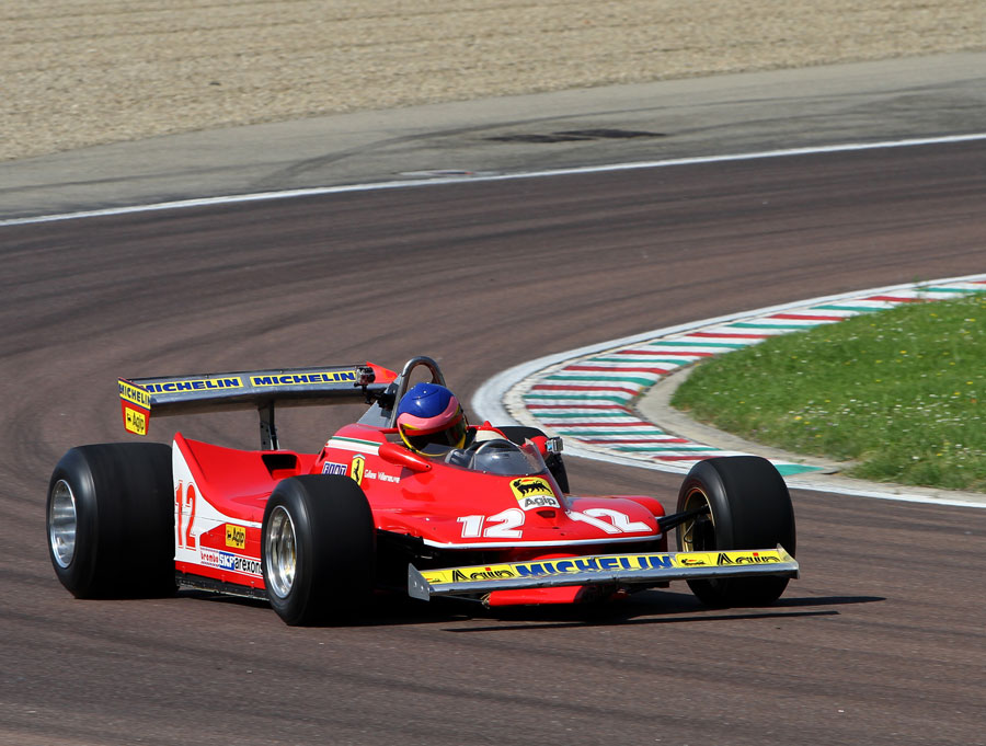 Jacques Villeneuve drives a Ferrari 312 T4 to mark 30 years since the death of his father Gilles