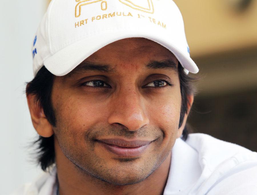 Narain Karthikeyan in the paddock