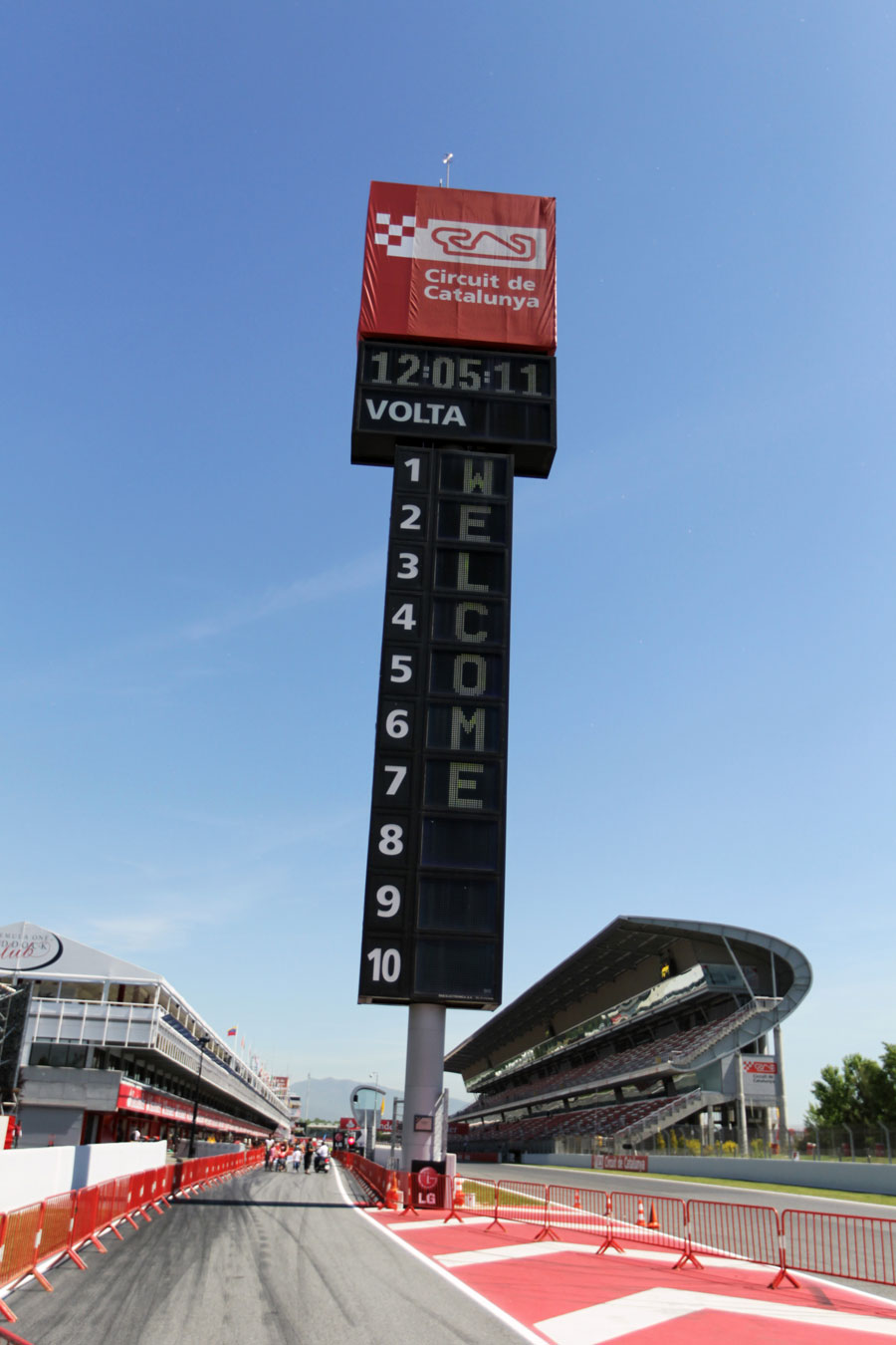 The Circuit de Catalunya leaderboard welcomes the F1 paddock