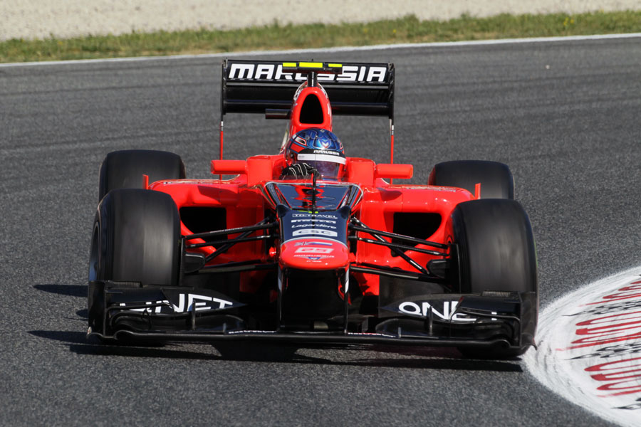 Charles Pic in action for Marussia