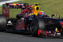 Mark Webber laps the circuit on Friday morning