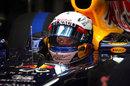 Sebastian Vettel prepares for action