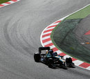 Vitaly Petrov in action for Caterham